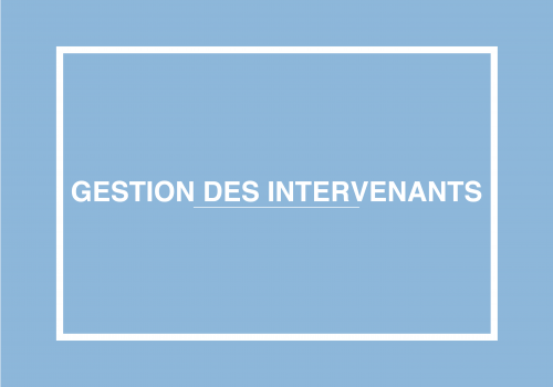 Gestion Des Intervenants
