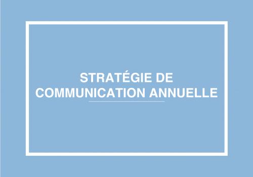 Stratégie De Communication Annuelle